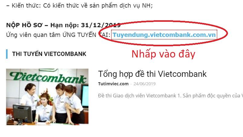 huong dan nop ho so online vao vietcombank 1