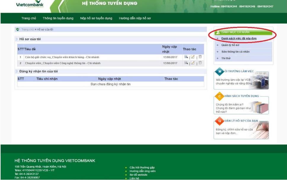 huong dan nop ho so online vao vietcombank 11