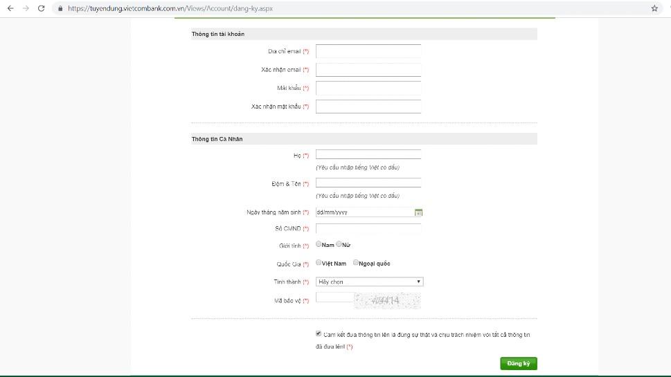 huong dan nop ho so online vao vietcombank 4