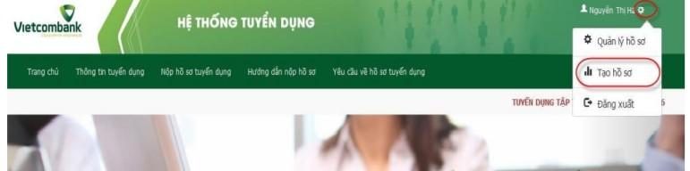huong dan nop ho so online vao vietcombank 5