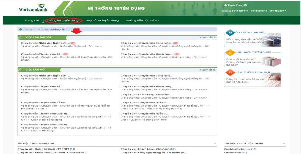 huong dan nop ho so online vao vietcombank 7
