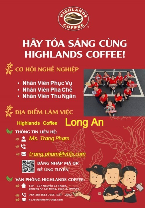 highlands coffee long an